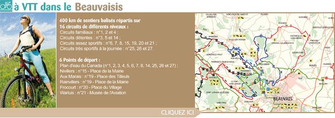 Sentiers VTT balisés du Beauvaisis